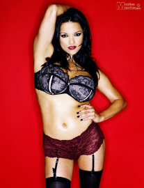 Monica mendez  red garter  set1  hey there i just love the way