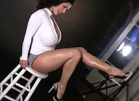 Denise Milani has gigantic boobies