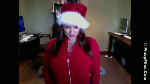 Monica mendez  monica mendez  christmas webcam 1  getting my