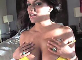Monica Mendez in yellow bra