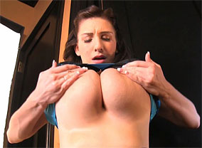 September Carrino flaunts enormous titties