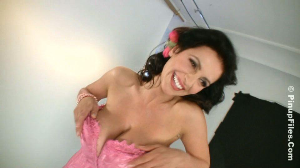 Denise milani pink corset01 trailer  denise milani teases in